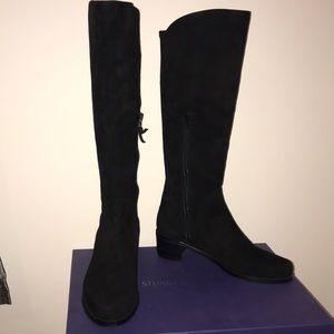STUART WEITZMAN Villepentagon Black Suede Boots